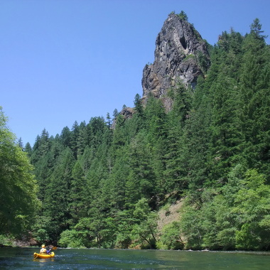 Click to see Eagle Rock on North Umpqua